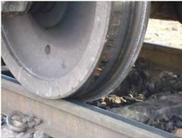 Rail wheel flange lubricant